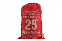 Red Hessian Gift Sack - Do Not -Open Until 25th December